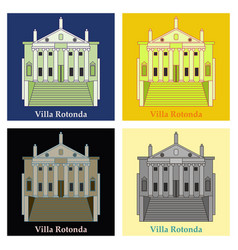Classical villa with rotunda historical mansion vector