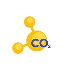 Co2 molecule icon for web vector