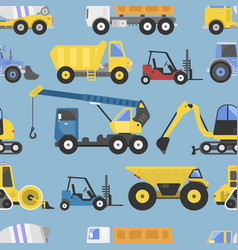 construction equipment seamless pattern machinery vector image
