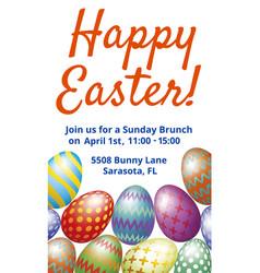 easter brunch invitation card vector image