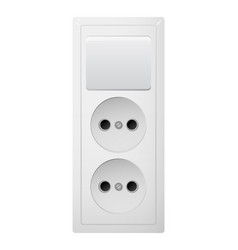 Electrical socket type c with switch receptacle vector