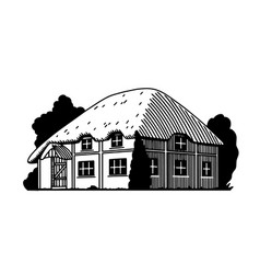 English cottage vector