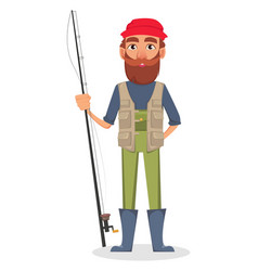 fisher cartoon character vector image