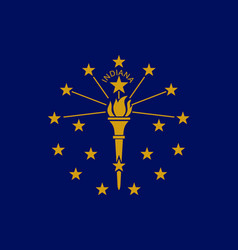 Flag of the usa state of indiana vector