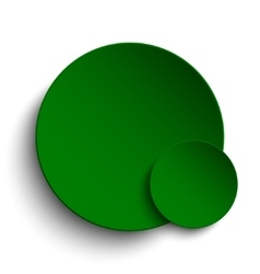Green circle empty banner on white background vector