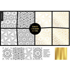 hand drawn patterns - white vector image