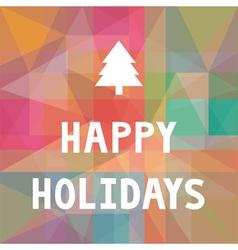 Happy holidays1 vector image