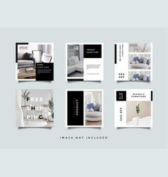 Home interior instagram stories promotion vector