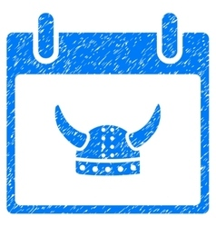 Horned Helmet Calendar Day Grainy Texture Icon vector image