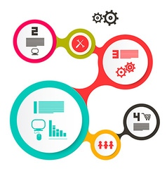ircle Flat Design Infographics Design vector image