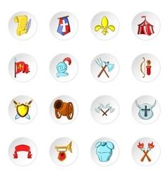 Knight icons cartoon style vector image