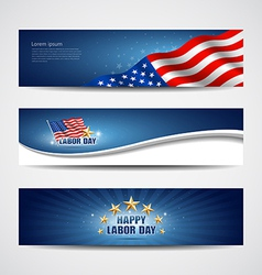 Labor day USA banner design set vector