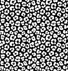 Leopard print seamless background pattern Black vector image