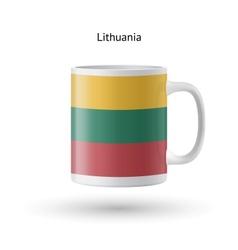 Lithuania flag souvenir mug on white background vector