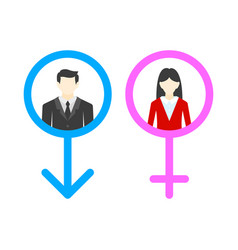 Male and female user avatar gentleman and lady vector