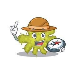 Mascot design concept bacterium explorer vector