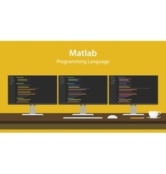 Matlab programming language code vector image