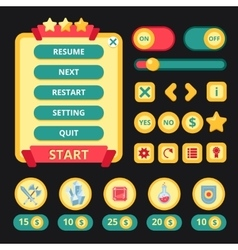 Medieval Game Interface vector