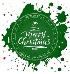 merry christmas rubstamp stain vector image