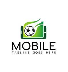 mobile soccer logo vector image