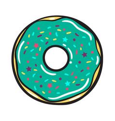 modern flat geometric donut vector image
