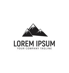 mountain logo design concept template vector image