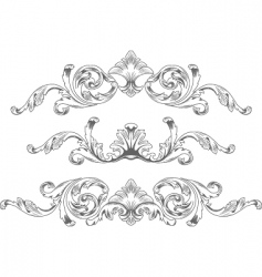 ornamental elements vector image