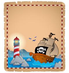 Pirate theme parchment 5 vector