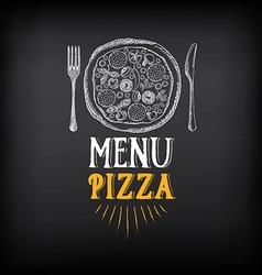 Pizza menu restaurant badges Food design template vector