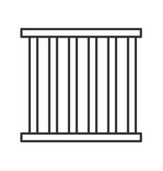 Prison bars linear icon vector