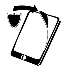 protection replacement screen smartphone icon vector image