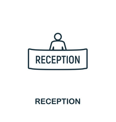 reception outline icon thin line concept element vector image