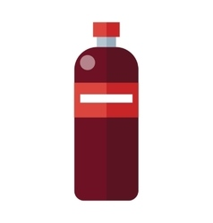 Red Plastic Bottle vector image