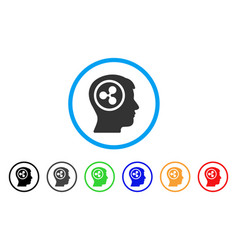 Ripple think rounded icon vector