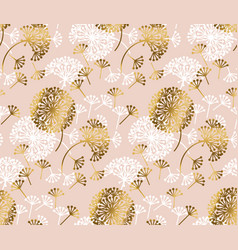 rose gold concept dandelion seamless pattern vector image