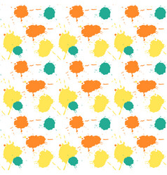 seamless watercolor splashes pattern hand drawn vector image