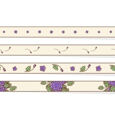 Set of borders with abstract roses vector