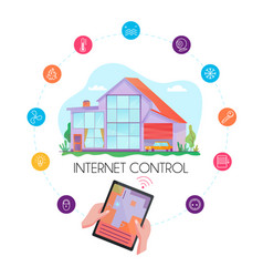smart house flat concept vector image