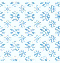 snowflakes seamless geometric pattern vector image