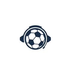 Soccer podcast logo icon design vector
