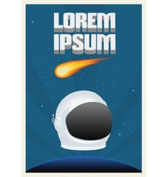 Space theme poster vector image