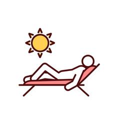 Summer holiday destination rgb color icon vector