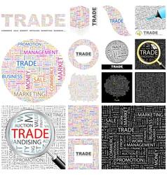 TRADE vector image