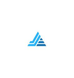 Triangle line stripe company logo vector
