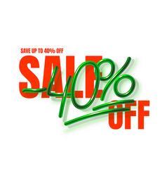 Up to 40 off sale banner promotion flyer vector