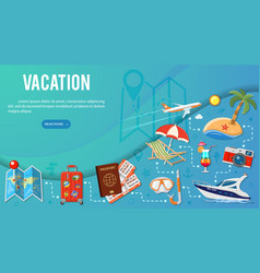 vacation and tourism banner infographics vector image