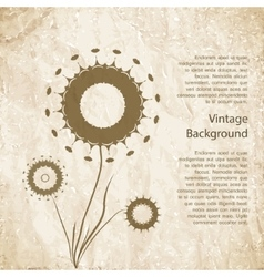 Vintage background with flower vector