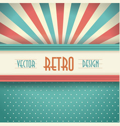 vintage faded background retro stripes dots and vector image