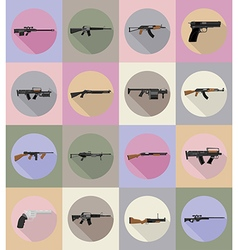 weapon flat icons 20 vector image vector image