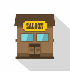 Western saloon icon flat style vector